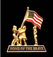Patriotic Firefighters Pin - Home of the Brave