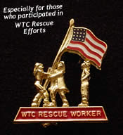 Patriotic Firefighters Pin - WTC Rescue Worker