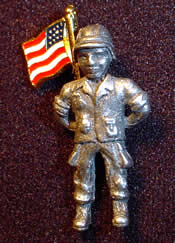 Freedom Soldier Pin